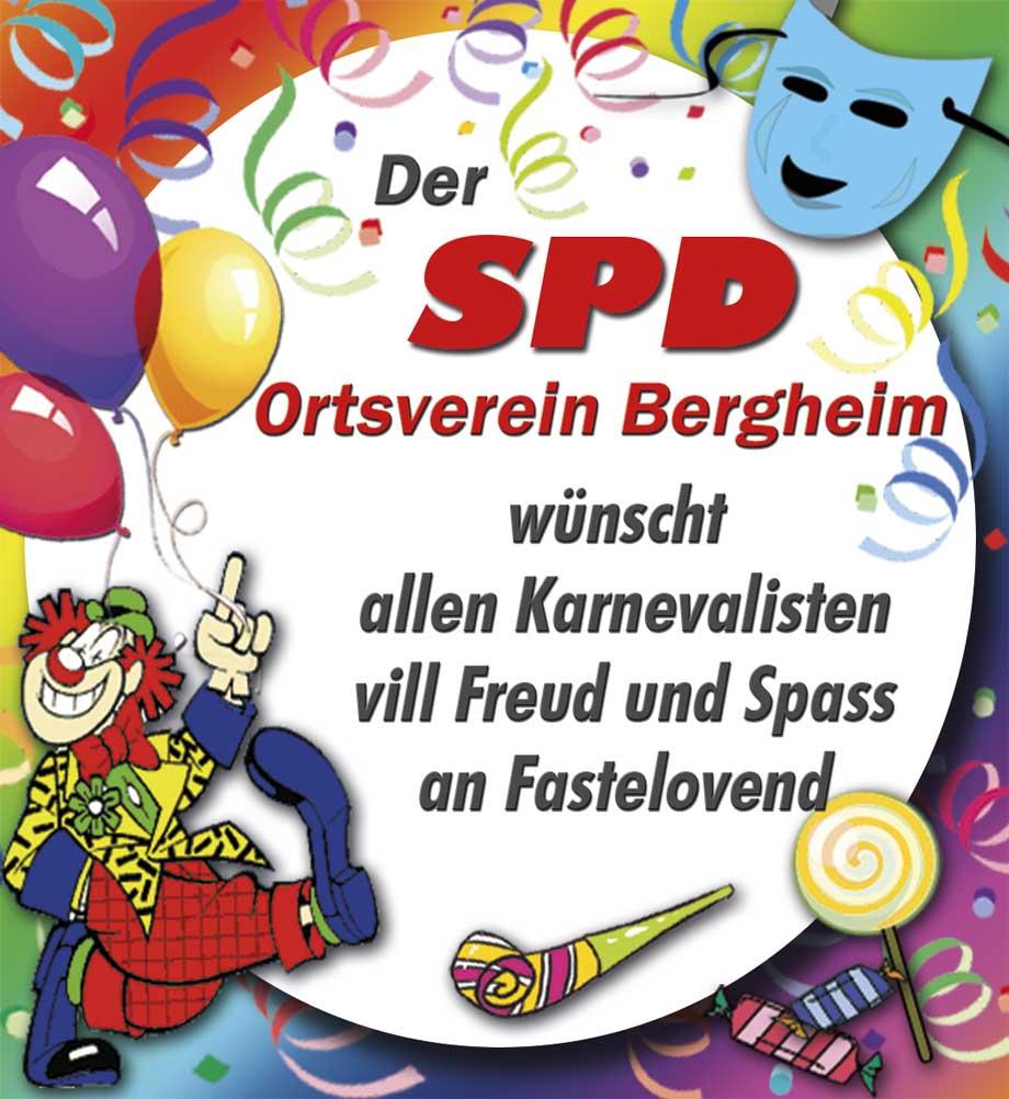 Karnevalsanzeige der SPD