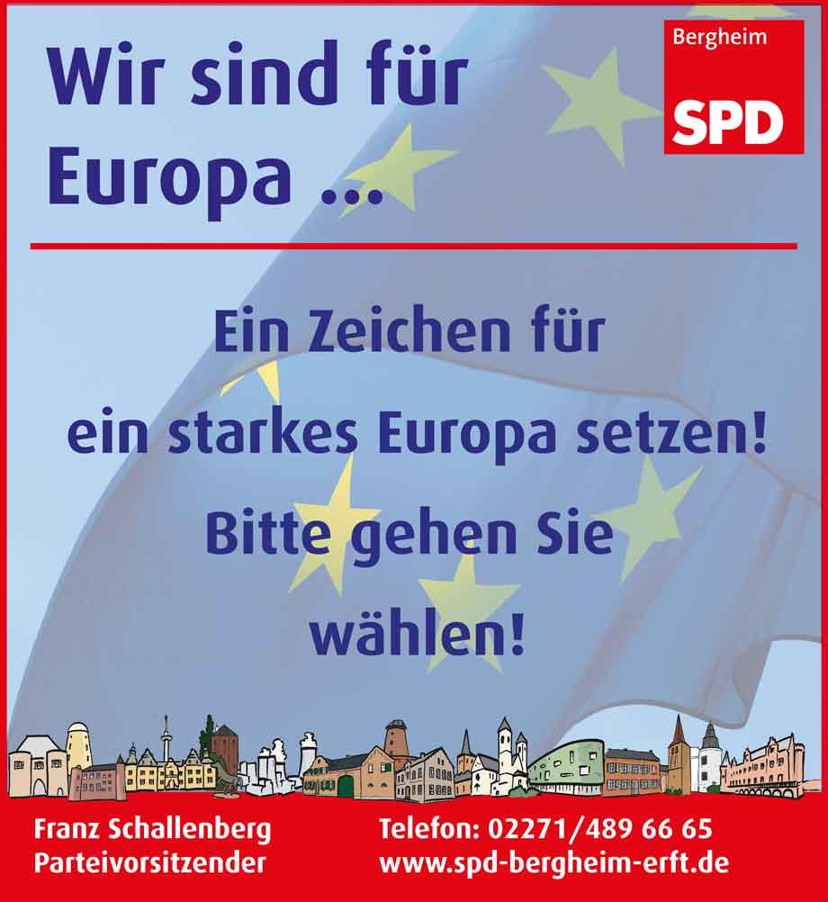 Europaflagge weht über Bergheim